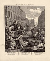 William Hogarth  The Four Stages of Cruelty: Second Stage of Cruelty 1 February 1751