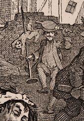 William Hogarth Detail Gin Lane 1751