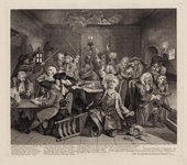 William Hogarth A Rakes Progress plate 6, 1735