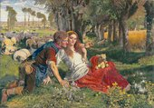 William Holman Hunt The Hireling Shepherd 1851-1852