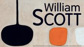 Banner for William Scott exhibition at Tate St Ives 2013