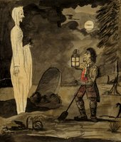 George Montard Woodward Gravedigger and a Ghost circa 1795