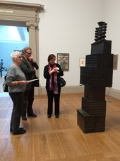 Soapbox group discussion in the works on paper gallery at Tate Britain