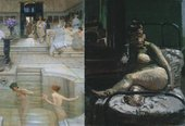 A Favourite Custom by Sir Lawrence Alma-Tadema and La Hollandaise by Walter Richard Sickert