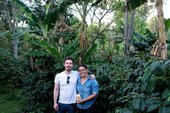 Photo of Thomas Haigh (Tate coffee) with Yolanda Urrea Arita
