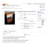 eBay listing posted by serenporfor showing 'John Smith Girl chewing gum Rare edition VHS', February 2010
