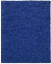 Yves Klein Untitled Monochrome Blue IKB 67 textured blue monochrome painting