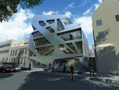 Artists impression of Hoxton Square Art Gallery offices and flats 2008