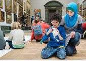 Photograph of a family event at Tate Britain
