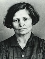 Fig.5 NKVD (secret police) arrest photograph of Lydia Dzbanovskaya-Shtokvish, born 1888, accountant