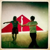 two people dancing in the gallery