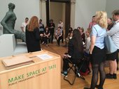 A photograph of a Make Space workshop at Tate