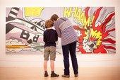 A photograph of school children at Tate Modern