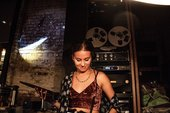 A DJ plays music