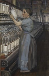 Sylvia Pankhurst, In a Glasgow Cotton Spinning Mill: Changing the Bobbin 1907