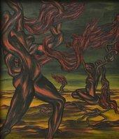 Inji Efflatoun, Surrealist Composition, 1942, oil paint on canvas, 71 × 60.5 cm - Private collection, photo © Viken Seropian