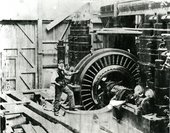 Archive photo of man at work in Bankside power station