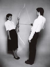 Ulay/Marina Abramović, Rest Energy 1980, 4-minute performance for video, ROSC '80, Dublin