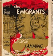Dust jacket of George Lamming's novel The Emigrants (1954), featuring illustration by Denis Williams