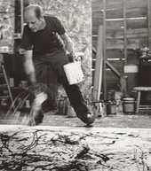 Jackson Pollock painting, photographed in 1950 by Hans Namuth
