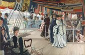 James Tissot The Ball on Shipboard c.1874 Tate Presented by the Trustees of the Chantrey Bequest 1937