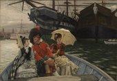 Image of James Tissot's painting Portsmouth Dockyard