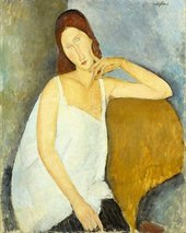 Image of Jeanne Hébuterne 1919 Oil paint on canvas
