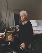 Joan Jonas in her New York studio, photographed by Toby Coulson for Tate Etc., September 2017