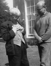 Stanley Spencer with John Rothenstein, Newington, 1956
