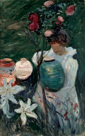 John Singer Sargent, Sketch for 'Carnation, Lily, Lily, Rose', 1885, oil paint on canvas, 72.4 × 47 cm