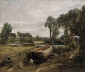 John Constable Boat-Building near Flatford Mill 1814-15 Oil on canvas © Victoria and Albert Museum, London