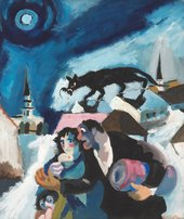 Josef Herman, Refugees, c1941, gouache on paper, 47 x 39.5 cm