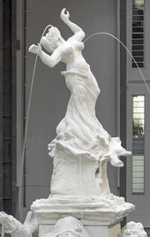 Photograph of Kara Walker's 'Fons Americanus' at Tate Modern. Detail shows the top of the monument