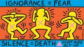 Keith Haring, Ignorance = Fear 1989. © Keith Haring Foundation
