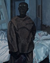 Kerry James Marshall, Portrait of Nat Turner with the Head of his Master, 2011, acrylic paint on PVC panel, 91.4 × 74.9 cm - © Kerry James Marshall, courtesy the artist and Jack Shainman Gallery, New York
