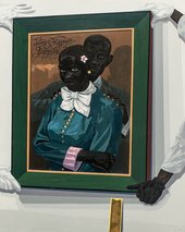 Kerry James Marshall, Still Life with Wedding Portrait, 2015, acrylic paint on PVC panel, 151.1 × 120.6 cm - © Kerry James Marshall, courtesy the artist and Jack Shainman Gallery, New York