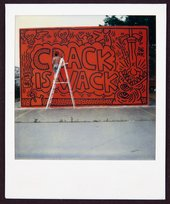Photograph of Keith Haring's Crack is Wack mural