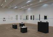 Installation shot of Edward Krasiński display at Tate Modern