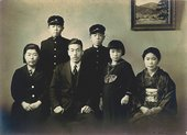 Kusama's family; Yayoi is second from the right Courtesy Yayoi Kusama Studio, Inc