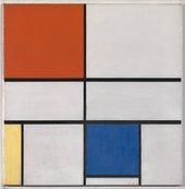 Mondrian painting of geometric shapes