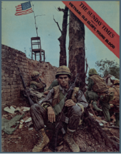 Magazine covers featuring photographs by Don McCullin, Vietnam, 24 March 1968;