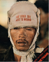 Magazine cover featuring photograph by Don McCullin, Vietnam, 25 June 1972;