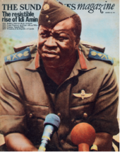 Magazine cover featuring photograph by Don McCullin, Uganda, 29 October 1972