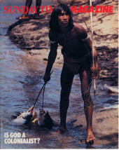 Magazine cover featuring photograph by Don McCullin,Venezuela, 15 May 1983;
