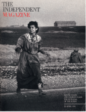 Magazine cover featuring photograph by Don McCullin, Turkey, 13 April 1991