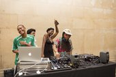 DJs at a young people's event