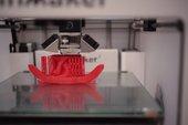 3D printer printing a design