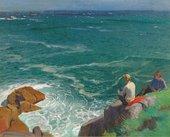 Laura Knight, A Green Sea, 1917