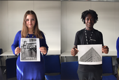 Former UAL Insights students, Aimee Day and Ishmael Lartey, Images by Kalina Pulit