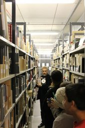 Tate's Archivist leads a visit to the stores